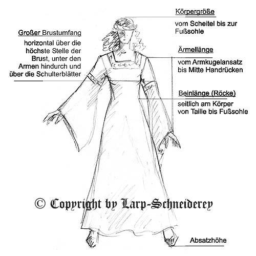 Richtig Maßnehmen für ein perfektes Mittelalterkleid