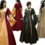 Mittelalterkleid in Varianten